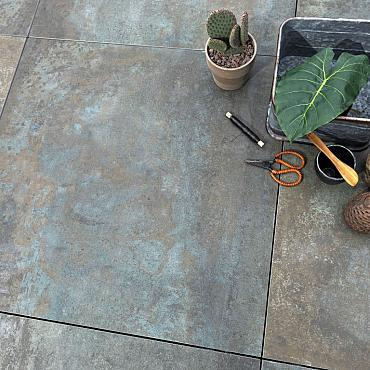 GeoCeramica® 80x80x4 Copper Steel