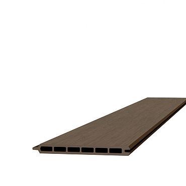 Composiet schermplank 2,1 x 19,5 x 180 cm, bruin.