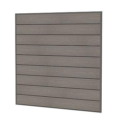 Composiet scherm houtmotief, 181,5 x 181,5 cm grijs.
