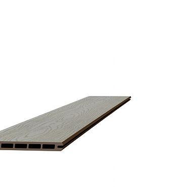 Composiet schermplank houtmotief 2,1 x 19,5 x 180 cm, grijs.