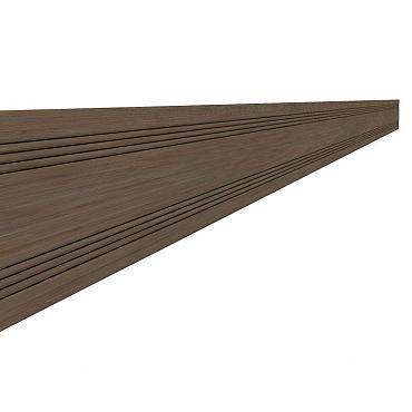 Composiet afdeklat 0,8 x 6,3 x 300 cm, bruin.