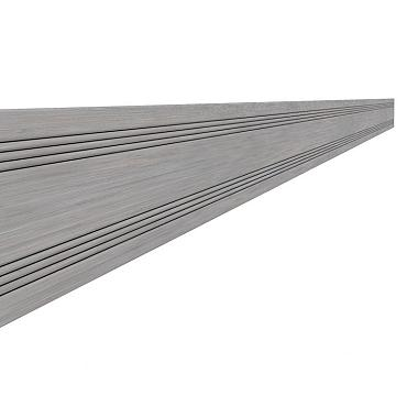 Composiet afdeklat 0,8 x 6,3 x 300 cm, grijs.