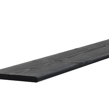 Grenen geschaafde plank 1,5 x 14 x 180 cm, geïmpregneerd en zwart gedompeld.