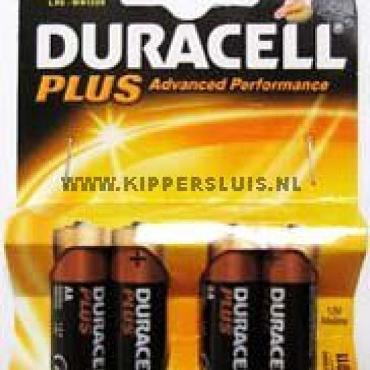 Batterijen AA duracel per 4