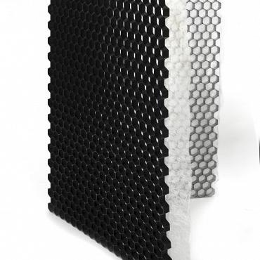 Grindplaat met onderdoek 120x80x3cm ZWART