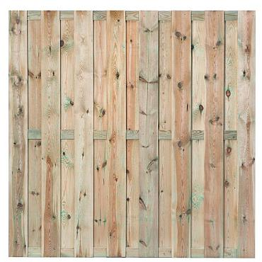 701 Actie Tuinscherm Recht 180x180 cm 16mm 15 planks!