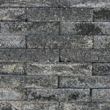 Wall Block grijs zwart strak 32.5x12x10 cm