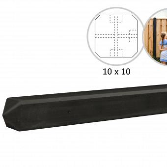 Betonpaal Rotsmotief T-paal antraciet 10x10x280 cm/ driesprong paal