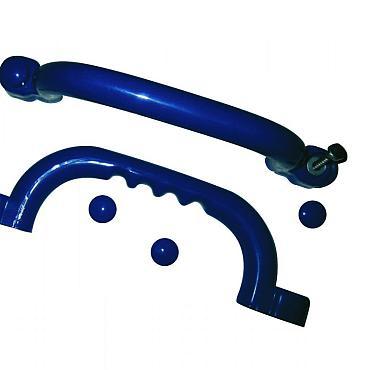 Handgrepenset kunststof per set à 2 stuks, blauw.