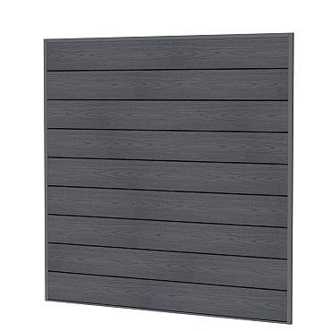 Composiet scherm houtmotief, 181,5 x 181,5 cm antraciet.