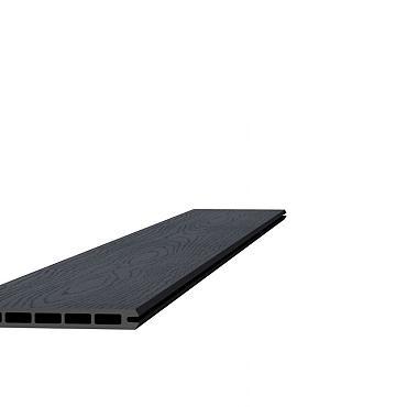 Composiet schermplank houtmotief 2,1 x 19,5 x 180 cm, antraciet.