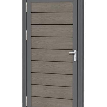 Aluminium kozijnset, 2 palen + 1 bovenregel t.b.v. composiet deur.