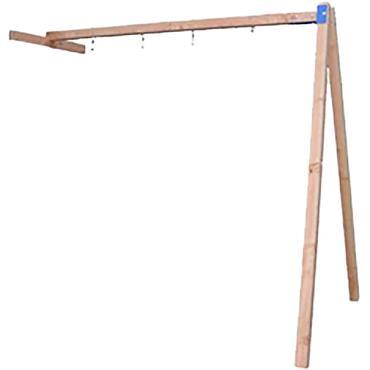Douglas schommelaanbouw t.b.v. speeltoestel Bonobo, kleurloos geïmpregneerd.