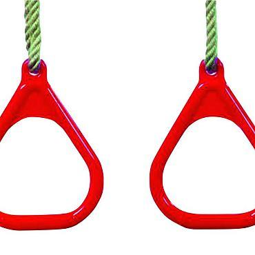 Ringenset driehoek kunststof, rood.