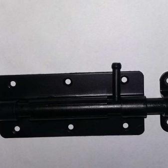 Plaatgrendel zwart gepoedercoat ( plaat 120x50x2 mm )