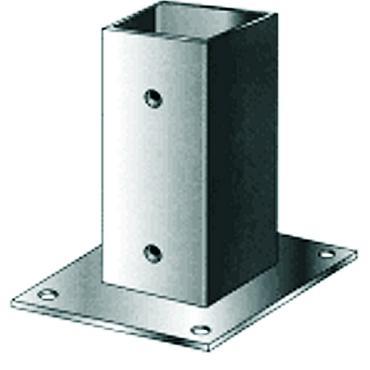 Voetsteun metplaat thermisch verzinkt 121x121 MM