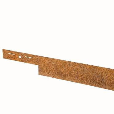 Cortenstaal Borderrand 3mm dik 225x10.2 cm incl. 3 verankeringspennen 30.5 cm