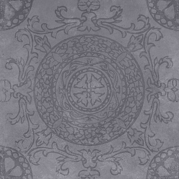 GeoCeramica® 60x60x4 Symbol Circle Black
