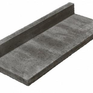 Oudhollands Traptreden l-model antraciet 100x40x15 cm